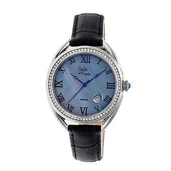 Sophie & Freda Austin MOP Swiss Ladies Watch - Silver/Black