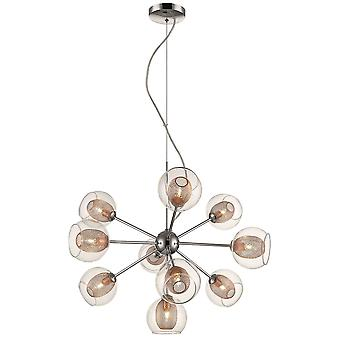 Spring Lighting - Liverpool Chrome And Copper Ten Light Pendant  DBOP057DQ10EFDP