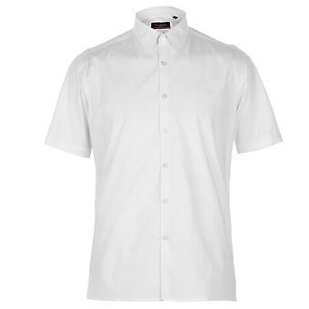 Pierre Cardin Mens Slim Fit Short Sleeve Shirt Casual Tops
