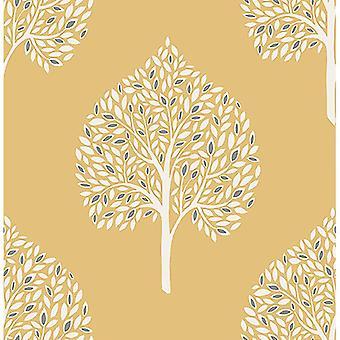 Leaves Wallpaper Leaf Trees Luxury Heavyweight Modern Annabelle Fine Décor