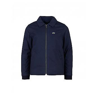 Zip di popeline di cotone Lacoste attraverso Jacket