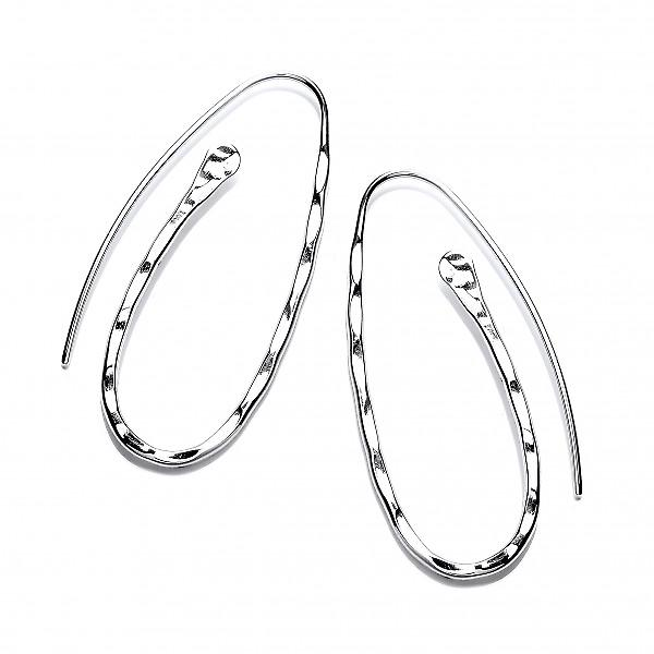 Cavendish French Silver Paperclip Earrings