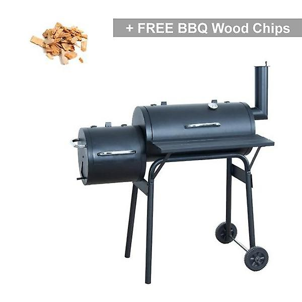 Smoker Offset Pit Charcoal BBQ Grill