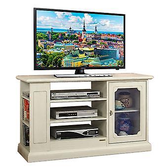 Tv door with cabinet door and shelves