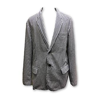 Tailor Vintage jacket in blue and white cotton check
