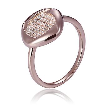 Orphelia Silver 925 Ring Rose Square Filled With Zirconium ZR-7442