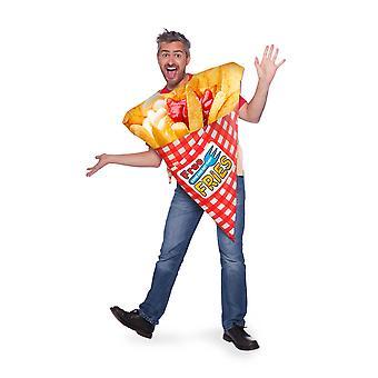 Pommes Chips Essen Kostüm
