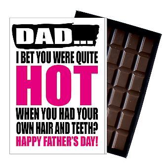 Rolig fars dag gåva fåniga choklad present Rude kort för pappa DADIYF111