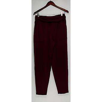 AnyBody Women's Lounge Pants, Sleep Shorts Grape Wine Red A310049