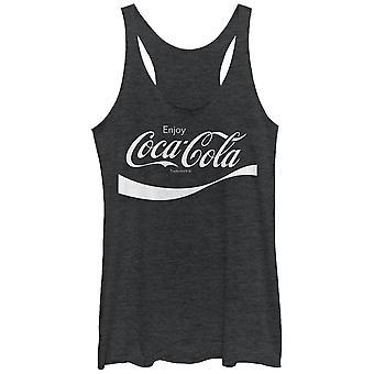 Coca-Cola Flip it and Reverse it Black Juniors Tank Top