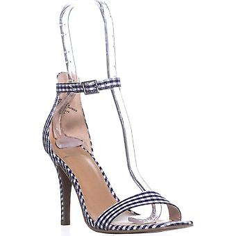 Material Girl Womens Blaire5 Fabric Open Toe Casual Ankle Strap Sandals