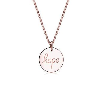 Elli Necklace with Leaning Women's Circle in Silver 925 Placato Gold Rose