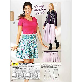 Pretty Pleated Skirt  Xs  S  M  L  Xl Pattern K3914