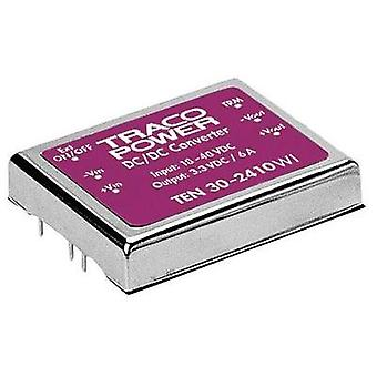 DC/DC converter (print) TracoPower TEN 30-2412WI 24 Vdc 12 Vdc 2.5 A 30 W No. of outputs: 1 x