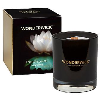 Wonderwick Noir Candle in a Glass - Lotus Flower