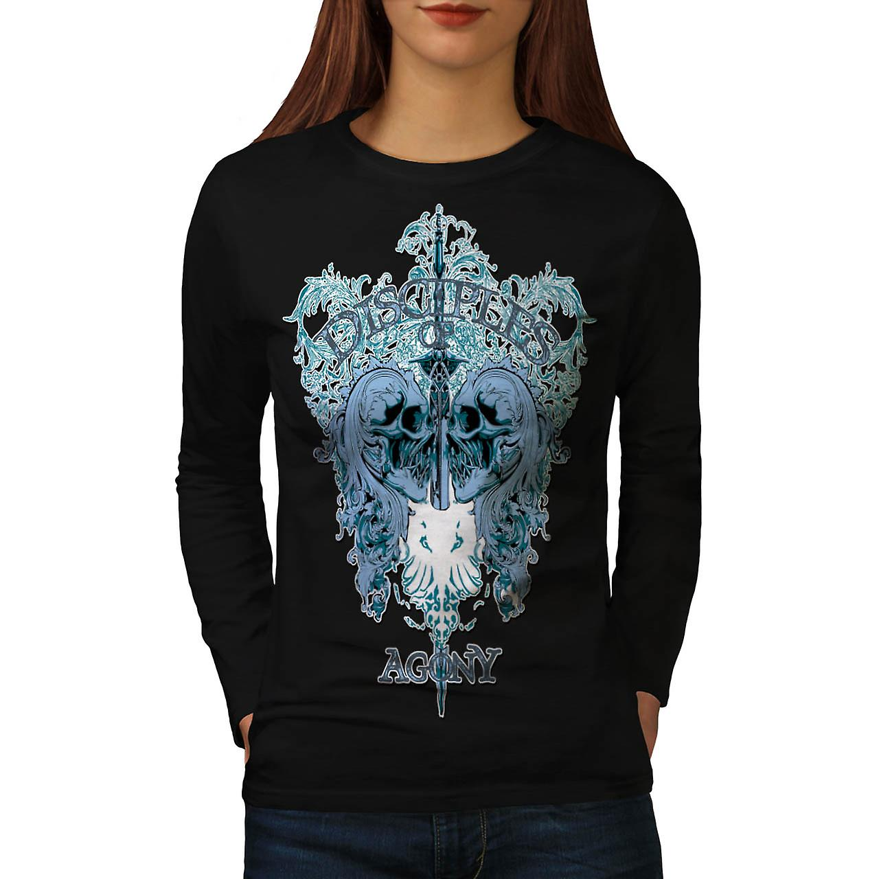 Disciples Of Agony Follow Lead Women Black Long Sleeve T-shirt | Wellcoda