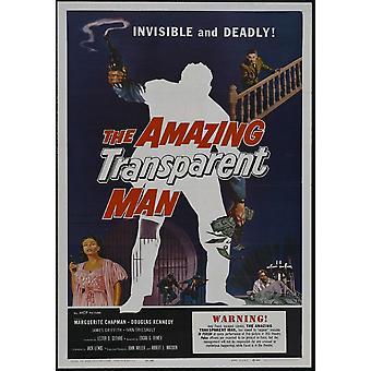 Den fantastiske gjennomsiktige mann film plakat ut (27 x 40)