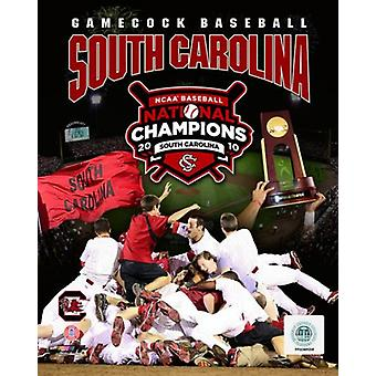 University of South Carolina 2010 NCAA College Baseball World Series Champions Composite Photo Print