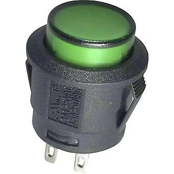 Pushbutton switch 250 Vac 6 A 1 x On/Off SCI R13-527BL-02 GREEN NEON 250VAC latch 1 pc(s)