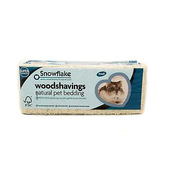 Snefnug Woodshavings - lille (Pack af 8)
