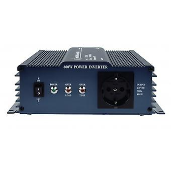 HQ Power Converter Pure sine wave 12 VDC AC 230 V 600 W F (CEE 7/3)