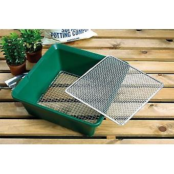 2 in 1 Sieve Plastic Tray Galvanised Woven Wire Screen