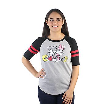Disney Mickey et Minnie Mouse Junior Jersey gris rayures