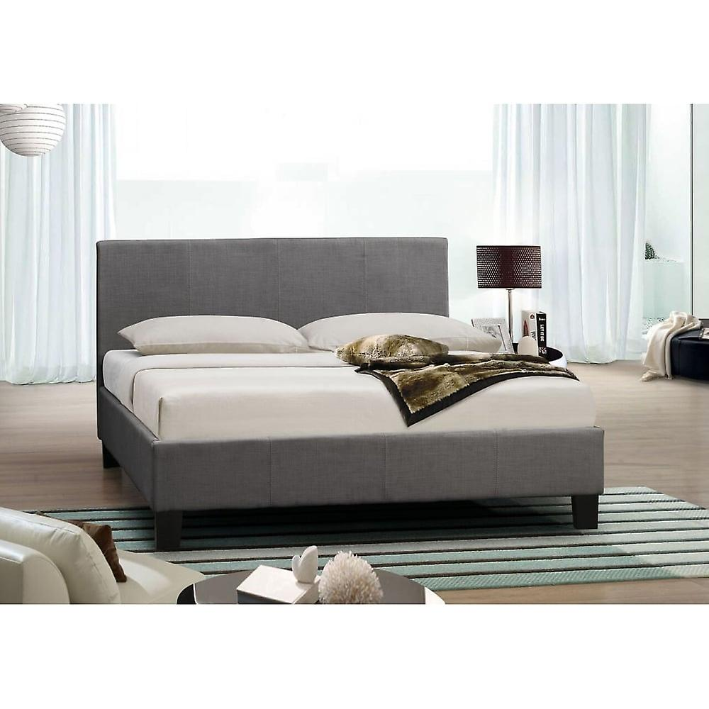 Birlea 135cm Berlin Fabric Bed Grey