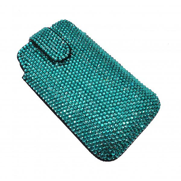 W.A.T Sparkling Green Crystal Phone Case For Blackberry Or Iphone