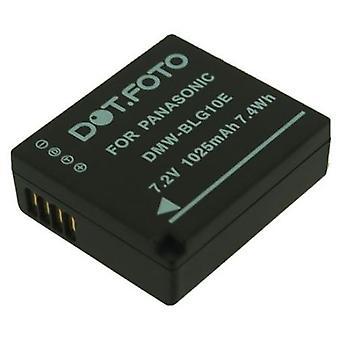 Dot.Foto Panasonic DMW-BLE9, Ersatz-Akku DMW-BLE9E, DMW-BLG10, DMW-BLG10E