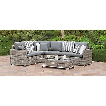 Hevea Left Rincon Florence-3 with cushions (Garden , Furniture and accessories , Bench)