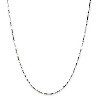 Sterling Silver Octagon Spring Ring 1.25mm 8 Side Sparkle-Cut Box Chain Necklace - Length: 16 to 30