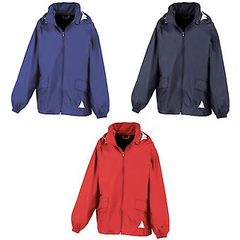 Result Childrens Unisex Lightweight Windcheater Jacket In A Bag