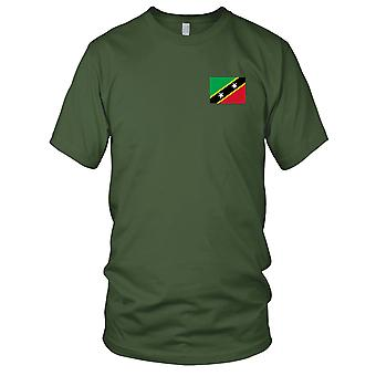 Saint Kitts Nevis Country National Flag - Embroidered Logo - 100% Cotton T-Shirt Kids T Shirt