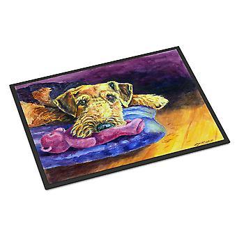 Airedale Terrier bamse innendørs eller utendørs Mat 18 x 27