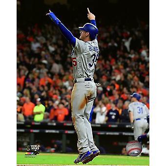 Cody Bellinger Game 4 van de 2017 World Series foto afdruk