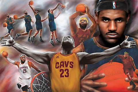 Lebron James Collage Poster Print Poster Poster Print