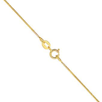 10k Yellow or White gold Box Chain Necklace (0.6 mm)