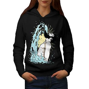 Epic Beard Hippie Women BlackHoodie | Wellcoda
