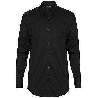 Antony Morato Antony Morato almindelig sort Super Slim Fit skjorte