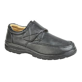 Mens Touch Fastening Casual Smart Wear Lightweight Shoes