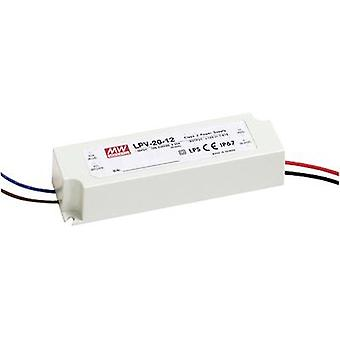 LED transformer Constant voltage Mean Well LPV-20-12 20 W (max)