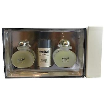 Sexual Fresh By Michel Germain Edt Spray 4.2 Oz & Aftershave (Glass) 4.2 Oz & Deodorant Stick Alcohol Free 2.8 Oz