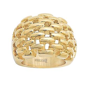 Ladies 18 gullbelagt Kt Cut-Out Ring