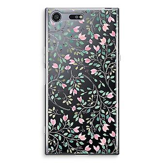 Sony Xperia XZ Premium Transparent Case - Dainty flowers
