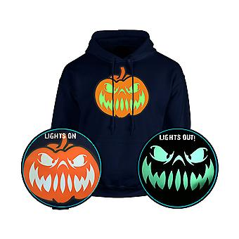 Grinning Jack GLOW IN THE DARK Halloween Pumpkin Unisex Hoodie 10 Colours (S-5XL) by swagwear