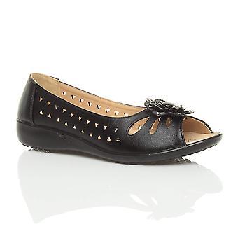 L'été de confort coin plat Ajvani womens talons bas découpe sandales Chaussures