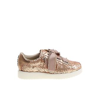 Alberto Gozzi ladies FEDRARAME gold leather of sneakers