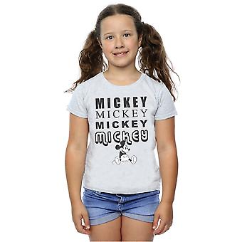 Disney Girls Mickey Mouse Sitting T-Shirt