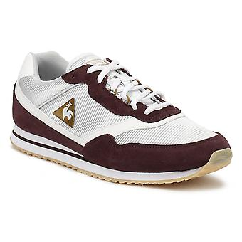Le Coq Sportif Womens Fudge/ Old Brass Louise Suede Trainers